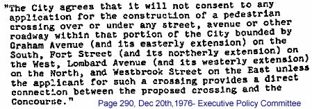 Dec.20, 1976 Agreement Portage & Main